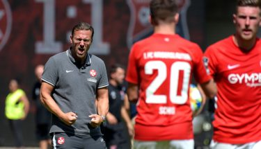 FCK-Cheftrainer Sascha Hildmann beim Heimspiel gegen die SpVgg Unterhaching