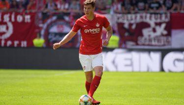 Jonas Scholz beim Heimspiel gegen die SpVgg Unterhaching