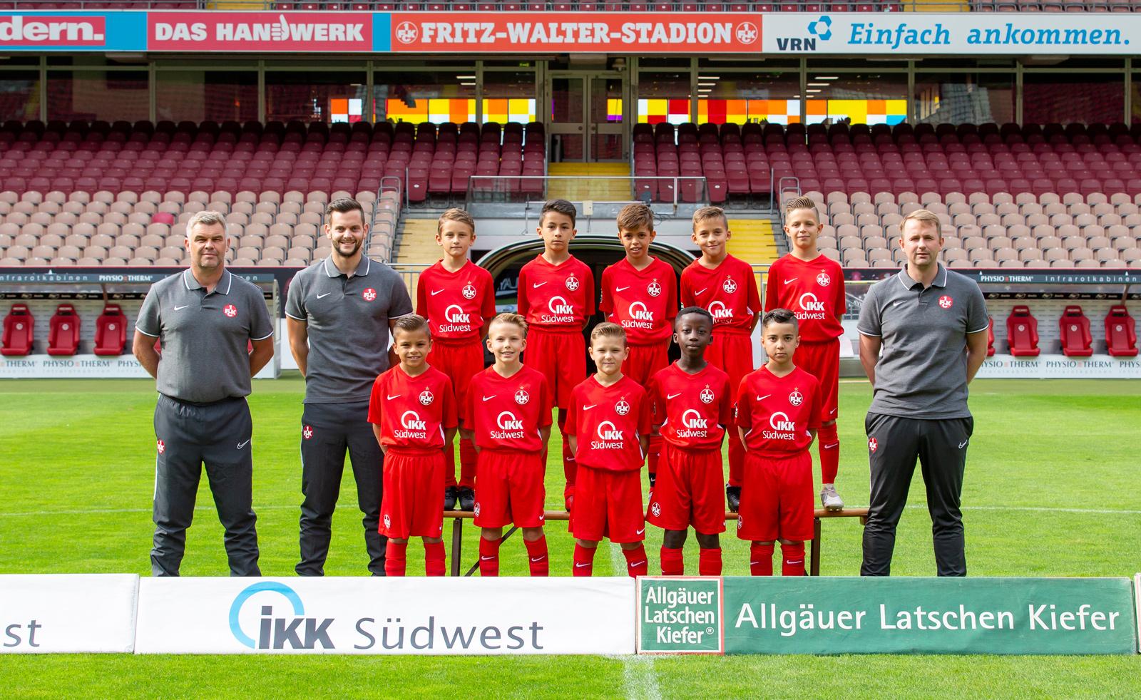 Mannschaftsfoto der FCK-U10 der Saison 2019/20