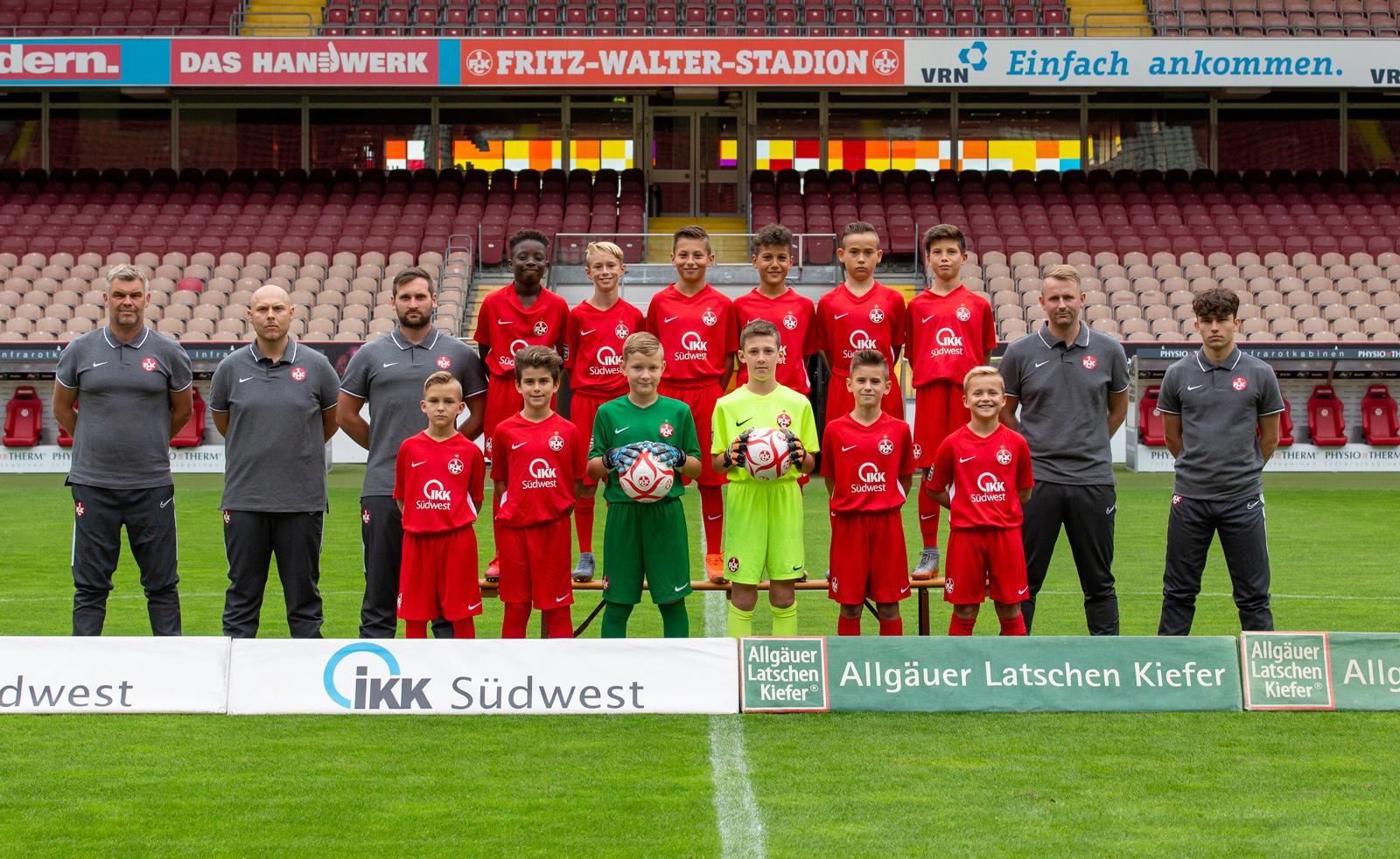 Mannschaftsfoto der FCK-U11 der Saison 2019/20