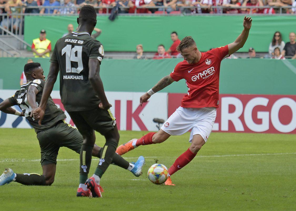 Timmy Thiele im DFB-Pokalheimspiel gegen Mainz 05