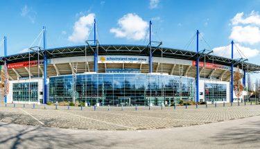 Außenansicht der Schauinsland-Reisen-Arena in Duisburg