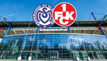 Ankündigungsbild für das Auswärtsspiel des FCK beim MSV Duisburg