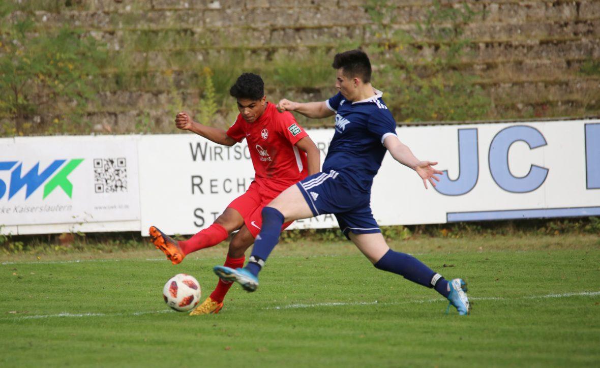 Shakil Diallo im Spiel der U19 beim VfR Kaiserslautern