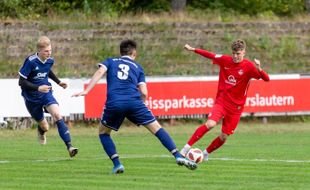 Fritz Reisinger im Spiel der U19 beim VfR Kaiserslautern
