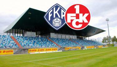 Ankündigungsbild für das Verbandspokalspiel des FCK beim FK Pirmasens
