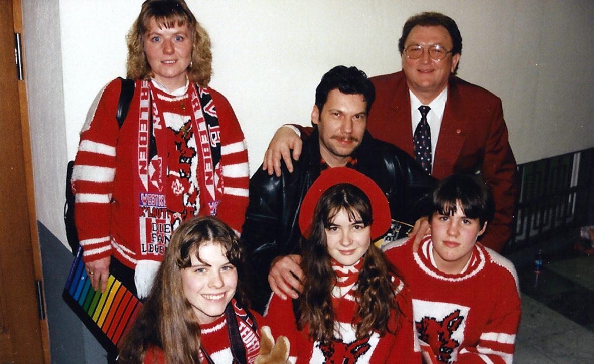 Die Verleihung des Fan-Fuxxes im Jahr 1995