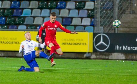 Florian Pick im Verbandspokalspiel beim FK Pirmasens