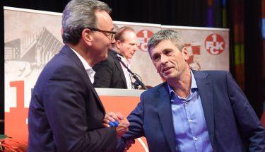 Rainer Keßler und Dr. Markus Merk nach der Aufsichtsratswahl 2019