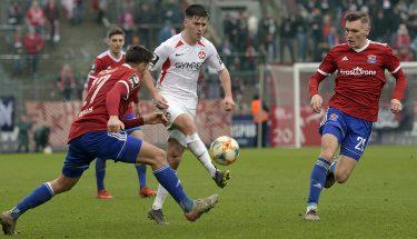 Dominik Schad im Auswärtsspiel in Unterhaching