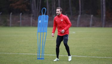 Jan-Ole Sievers beim Trainingsauftakt der FCK-U21