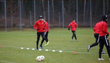 Luca Jensen beim Trainingsauftakt der FCK-U21