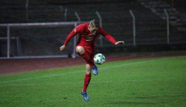 Jannis Held im Auswärtsspiel der U21 bei Arminia Ludwigshafen