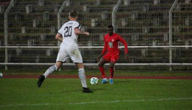 Dylan Kuete im Auswärtsspiel der U21 bei Arminia Ludwigshafen