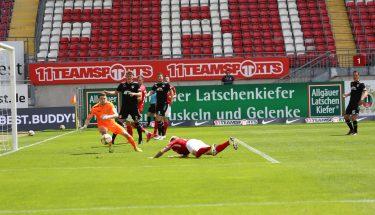 Florian Pick erzielt das 2:0 gegen den KFC Uerdingen