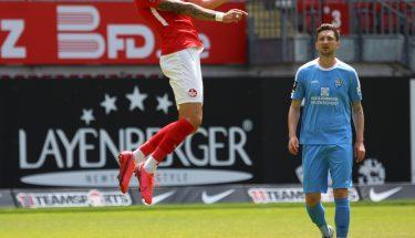 Timmy Thiele im Heimspiel gegen den Chemnitzer FC