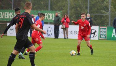 Neal Gibs im Heimspiel der U19 gegen den FC Ingolstadt