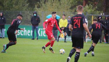 Angelos Stavridis im Heimspiel der U19 gegen den FC Ingolstadt