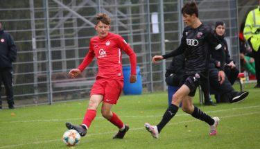 Aaron Basenach im Heimspiel der U19 gegen den FC Ingolstadt