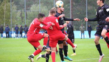 Angelos Stavridis und Lukas Preuß im Heimspiel der U19 gegen den FC Ingolstadt
