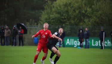 Moritz Theobald im Heimspiel der U19 gegen den FC Ingolstadt
