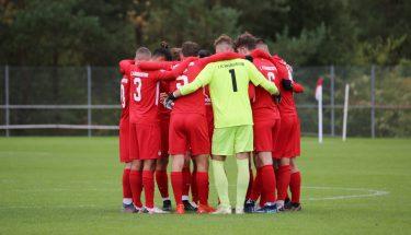 Mannschaftskreis vor dem Heimspiel der U17 gegen den FSV Frankfurt