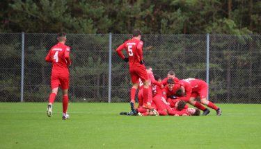 Torjubel nach dem 1:0 im Heimspiel der U17 gegen den FSV Frankfurt
