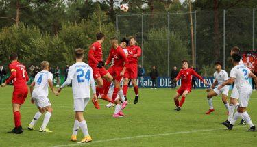 Spielszene aus dem Heimspiel der U17 gegen den FSV Frankfurt