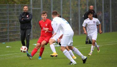 Michael Schroeder im Heimspiel der U17 gegen den FSV Frankfurt