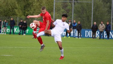 Kimi Merk im Heimspiel der U17 gegen den FSV Frankfurt
