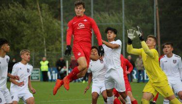 Henri Werner im Heimspiel der U17 gegen den FSV Frankfurt