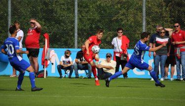 Lars Oeßwein beim 4:1-Heimsieg der U21 gegen den TSV Emmelshausen