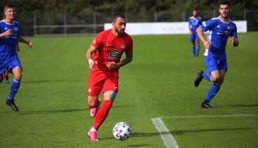 Philipp Herrmann beim 4:1-Heimsieg der U21 gegen den TSV Emmelshausen