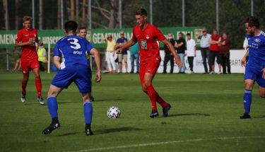 Tim Buchheister beim 4:1-Heimsieg der U21 gegen den TSV Emmelshausen