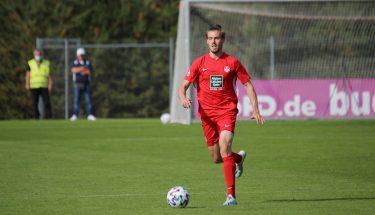 Kevin Klein beim 4:1-Heimsieg der U21 gegen den TSV Emmelshausen