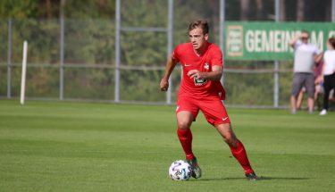 Leon Hotopp beim 4:1-Heimsieg der U21 gegen den TSV Emmelshausen