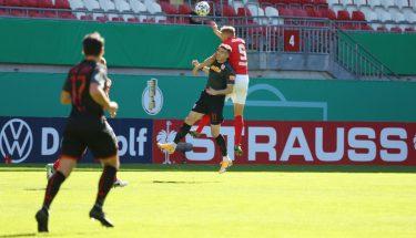 Kevin Kraus im Pokalspiel gegen Jahn Regensburg