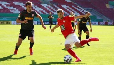 Hendrick Zuck im Pokalspiel gegen Jahn Regensburg