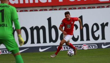 Dominik Schad im Heimspiel gegen Dynamo Dresden