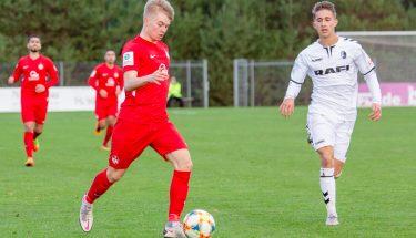 Moritz Theobald im Heimspiel der U19 gegen den SC Freiburg