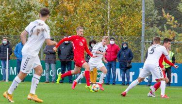 Lukas Preuß im Heimspiel der U19 gegen den SC Freiburg