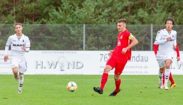 Dominik Kajinic im Heimspiel der U19 gegen den SC Freiburg