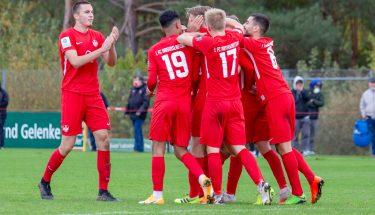 Torjubel im Heimspiel der U19 gegen den SC Freiburg