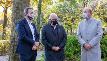 Rainer Keßler, Fritz Keller und Wolfgang Erfurt am 100. Geburtstag Fritz Walters