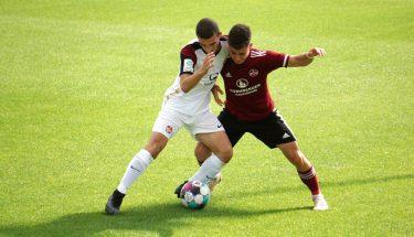 Drini Miftari im Spiel der U19 in Nürnberg