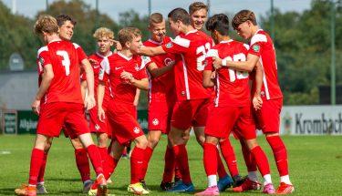 Torjubel im Spiel der U17 gegen Wehen Wiesbaden