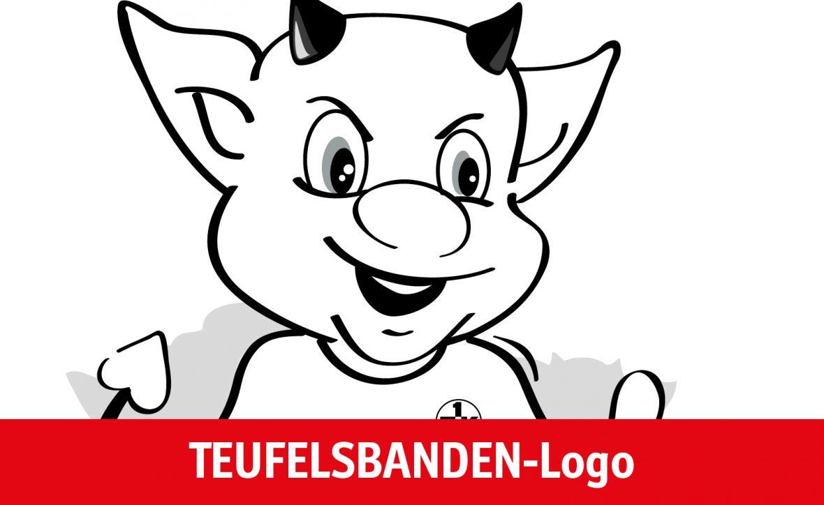 Ausmalvorlage TEUFELSBANDEN-Logo