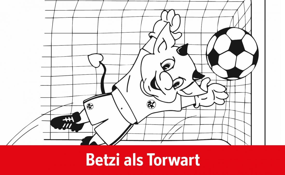 Ausmalvorlage Betzi als Torwart