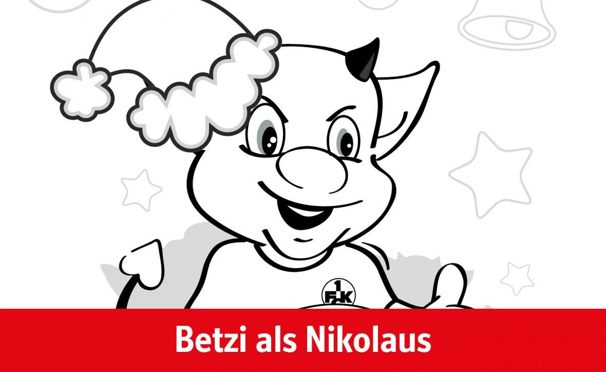 Ausmalvorlage Betzi als Nikolaus
