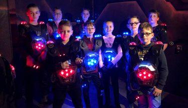 Die Kids der TEUFELSBANDE verbrachten einen spaßigen Nachmittag in der World of Lasertag